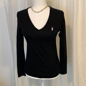 Ralph Lauren Sport Women's Long Sleeved Black Tee